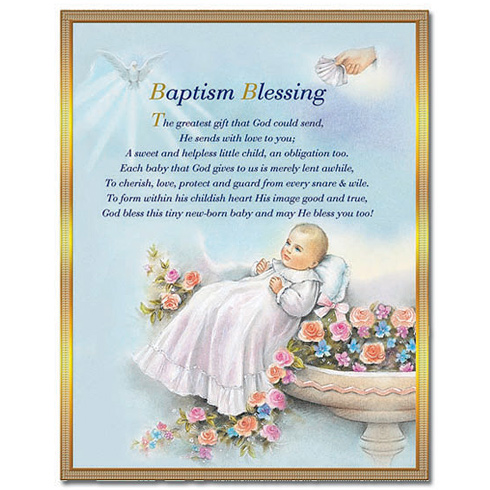 Baptism Blessing Plaque