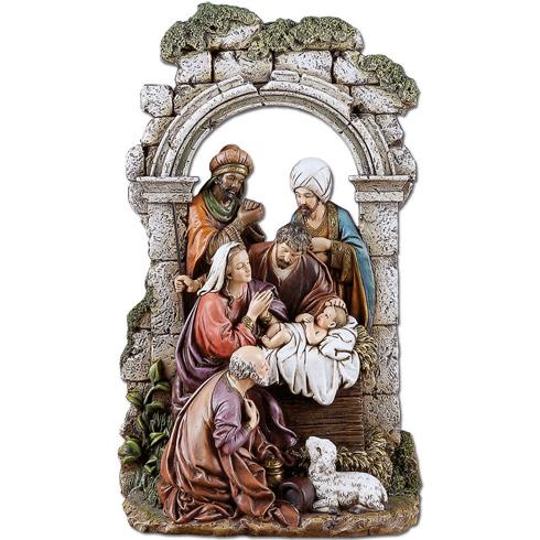 Archway Nativity Scene 11in tall