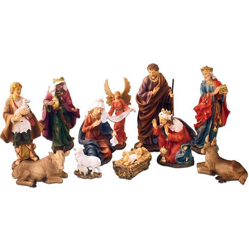 11 Nativity Figurines Set 12in Tall
