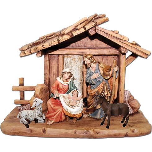 5 Figure Nativity Scene with Manger