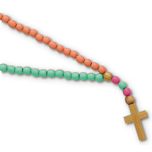 Kiddie 15in Pastel Wooden Rosary