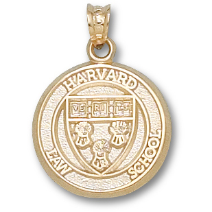 Harvard Law Shield 5/8in - 14kt Yellow Gold