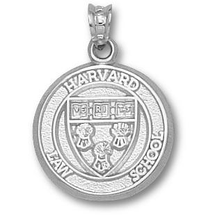 Harvard Law Shield 5/8in - Sterling Silver