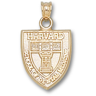 Harvard Dental Pendant 14kt Yellow Gold