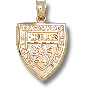 Harvard Medical 5/8in Pendant 14kt Yellow Gold