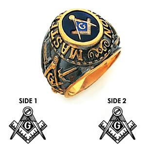 Master Mason Ring by Harvey & Otis - 14k Gold