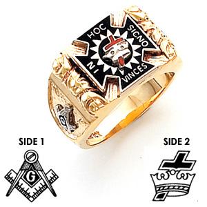 Harvey & Otis Knights Templar Ring - 10k Gold