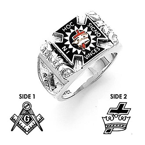 Sterling Silver Harvey & Otis Knights Templar Ring