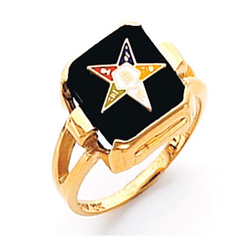 Square Eastern Star Ring - 14k Gold