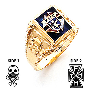 14kt Yellow Gold Knights of Columbus Ring