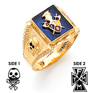 Harvey & Otis Knights of Pythias Ring - 14k Gold