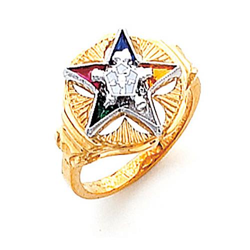 Flower Eastern Star Ring - 14k Gold
