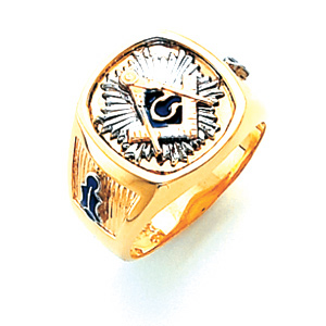 14kt Yellow Gold Jumbo Starburst Blue Lodge Ring