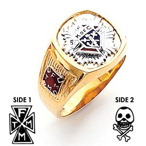 3rd Degree Knights of Columbus Ring - 14k Gold