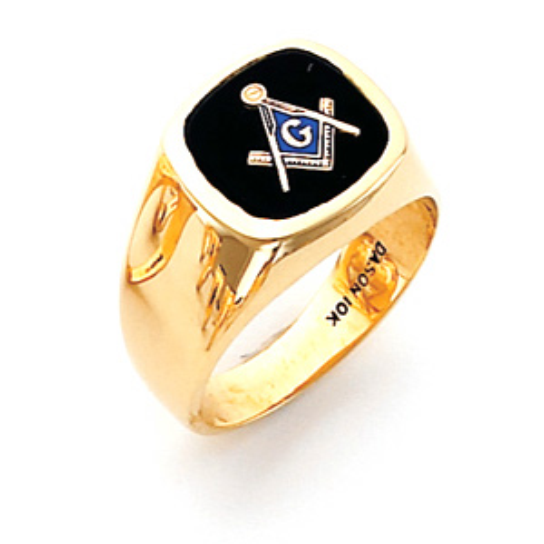 14kt Yellow Gold Harvey & Otis Smooth Masonic Ring