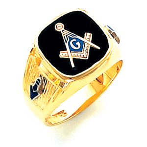 10kt Yellow Gold Harvey & Otis Blue Lodge Ring with Wide Shank