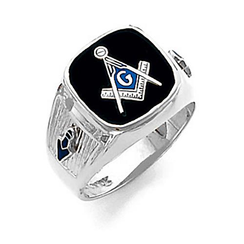 14kt White Gold Harvey & Otis Blue Lodge Ring with Wide Shank