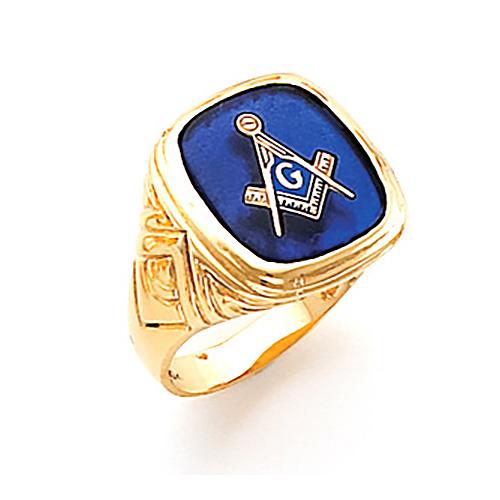 Jumbo Harvey & Otis Blue Lodge Ring - 10k Gold