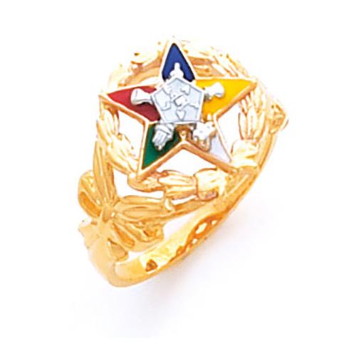 Leaf Eastern Star Ring - 14k Gold