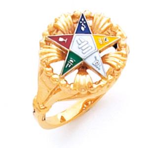 Fancy Eastern Star Ring - 14k Gold