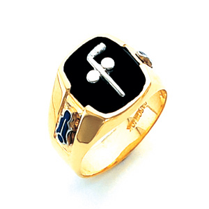 14kt Yellow Gold Tubal Cain Masonic Ring