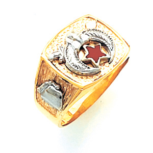 14kt Yellow Gold Harvey & Otis Shrine Ring with Pebble Grain