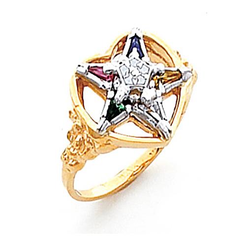 Heart Eastern Star Ring - 10k Gold