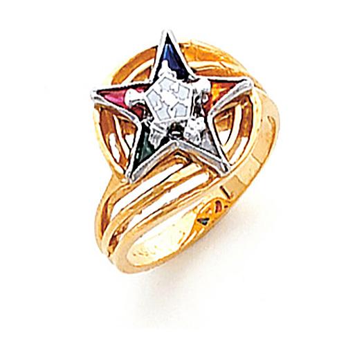 Eastern Star Ring - 14k Gold