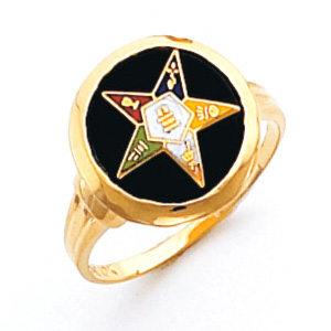 Round Eastern Star Ring - 10k Gold