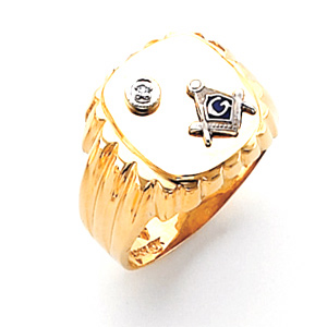Diamond Blue Lodge Ring - 10k Gold