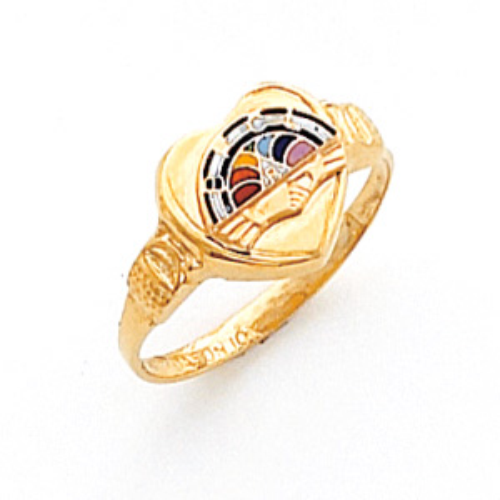 Rainbow Girl Ring - 14k Gold