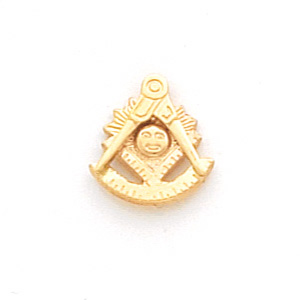 10kt Yellow Gold Past Master Tie Tac