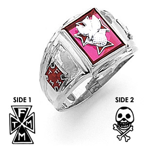 10kt White Gold 4th Degree Knights of Columbus Ring