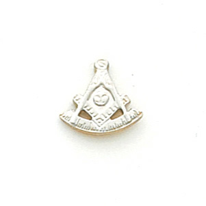 Masonic Past Master Tie Tac - 10k White Gold
