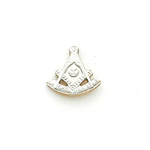 10k White Gold Masonic Past Master Tie Tac