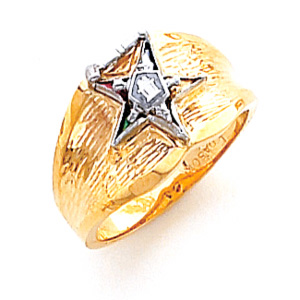 Past Matron Eastern Star Ring - 14k Gold