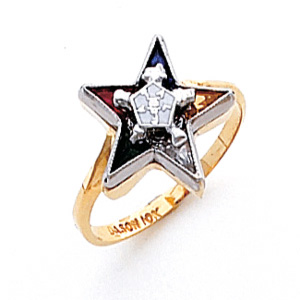 14kt Yellow Gold Classic Eastern Star Ring