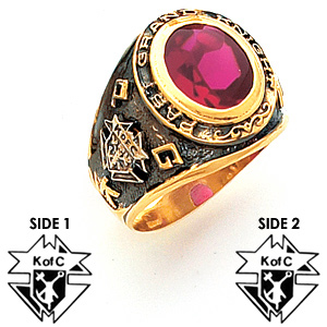 Past Grand Knight Ring - 14k Gold