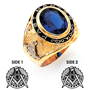 14kt Yellow Gold Masonic Past Master Bezel Ring