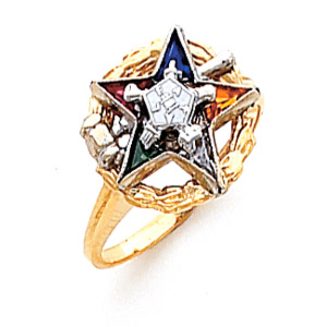 Past Matron Eastern Star Ring - 10k Gold