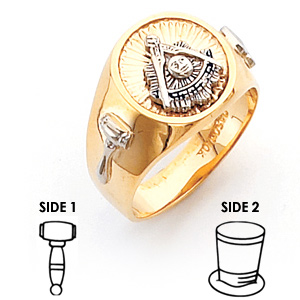 10kt Two-tone Gold Harvey & Otis Past Master Ring with Round Top