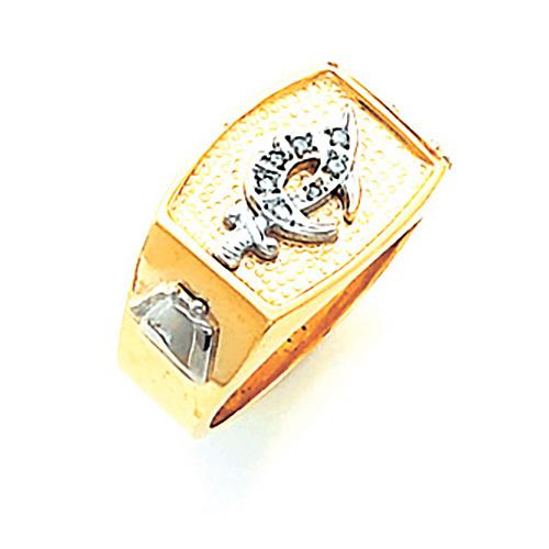 Oblong Shrine Ring - 14k Gold