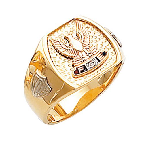 Harvey & Otis Fraternal Order of Eagles Ring - 10k Gold