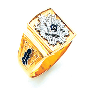 10kt Yellow Gold Starburst Blue Lodge Ring - Design Yours