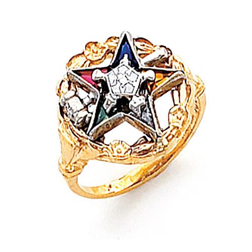Past Matron Eastern Star Ring - 10k Gold