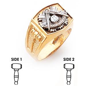 10kt Two-Tone Gold Harvey & Otis Past Master Ring
