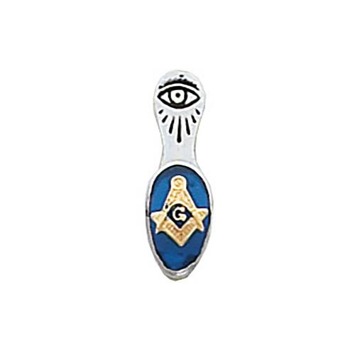 Masonic Tie Tac - 10k White Gold