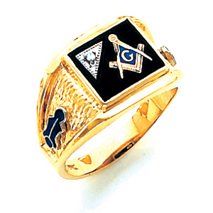 Blue Lodge Ring Diamond Accent - 14k Gold