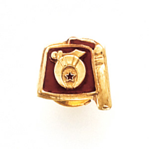 10k Yellow Gold Shriners Fez Tie Tac