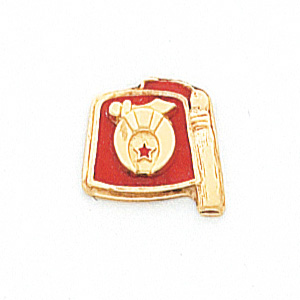 10k Yellow Gold 7/16in Shriners Fez Tie Tac